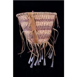 Apache Burden Basket with Jingle Cones c. 1950's