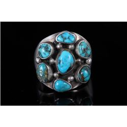Navajo Native Indian Turquoise & Silver Ring