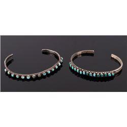 Navajo Fred Harvey Turquoise & Sterling Bracelets