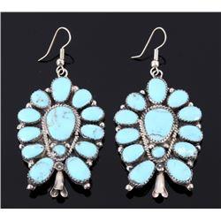 Navajo Sleeping Beauty Turquoise Earrings