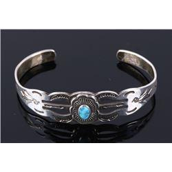 Navajo Fred Harvey Turquoise & Sterling Bracelet