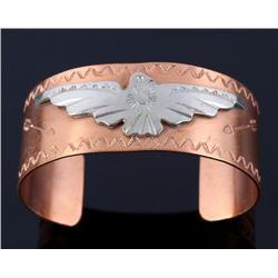 Navajo Fred Harvey Era Copper & Sterling Bracelet