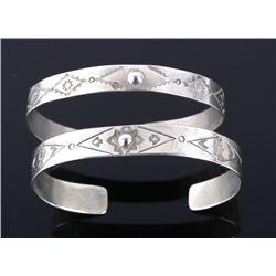 Navajo Fred Harvey Sterling Silver Bracelets