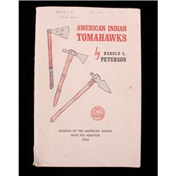 American Indian Tomahawks by Harold L Peterson