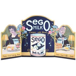 1930's Sego Milk Trifold Cardboard Cutout Display