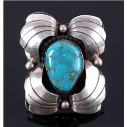 Navajo Sterling & Cripple Creek Turquoise Ring