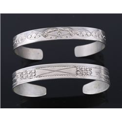 Navajo Fred Harvey Sterling Silver Bracelets