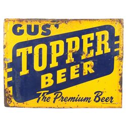 Original Gus' Topper Beer Sign Kalispell Montana