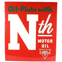 Nth Motor Oil Conoco Metal Advertising Sign