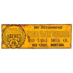 Nyal's Family Remedies Red Lodge Advertising Sign