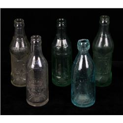 Collection of Early Montana Glass Soda Bottles