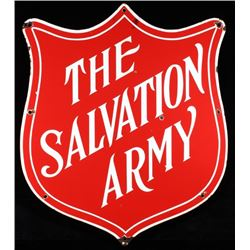 1960's The Salvation Army Porcelain Enamel Sign