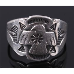 Navajo Fred Harvey Thunderbird Silver Ring