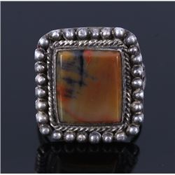 Navajo Fred Harvey Era Jasper & Silver Ring