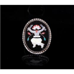 Zuni Native American Multi-Stone Mosaic Inlay Ring