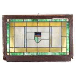 19th Century Art Deco Stained Glass Window