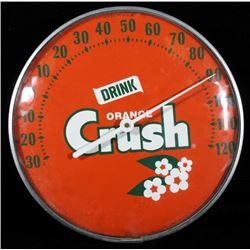 Mid 20th Century Orange Crush Thermometer