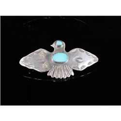 Zuni Sterling Silver & Turquoise Hair Barrette