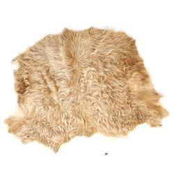 Montana Charolais Winter Shaggy Cowhide Rug