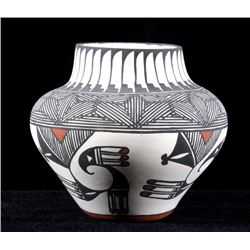 Signed Acoma Polychrome Pottery Jar c. 1950's