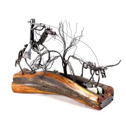 Range Obstacles Iron Sculpture by Danny Halverson