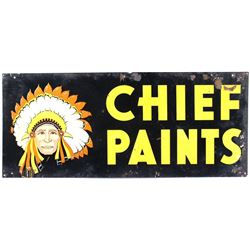 Mid 20th Century Chief Paints Advertising Sign