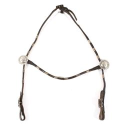 Early 1900's Leather and Silver Horse Headstall