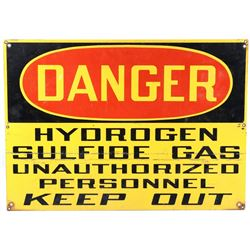 Danger Hydrogen Sulfide Sign