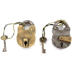 Late 19th Century Brass and Steel Locks