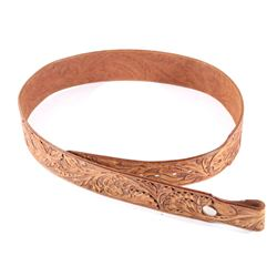 Sonny Cranson Hand Tooled Western Leather Belt