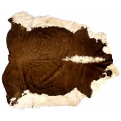 Montana Tanned Hereford Cowhide Rug