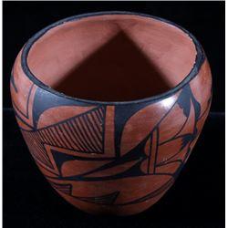 Signed Jemez Pueblo Painted Pottery Bowl c 1950's