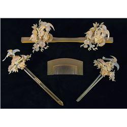 Japanese Geisha Ornate Accessory Set with Box