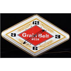 1970's Grain Belt Beer Illuminated Clock