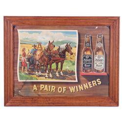 Original 1940's Kato Beer Framed Advertising