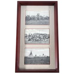 Blackfoot Native American Framed Photographs