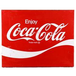 Original Coca-Cola Metal Advertising Sign