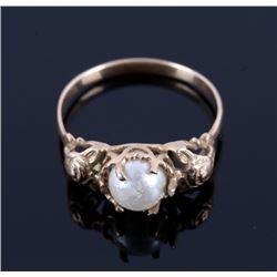 14 Karat Art Deco Gold & Pearl Ring