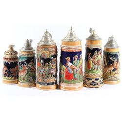 Collection of Traditional German Beer Steins
