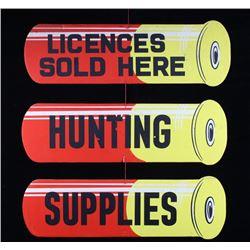 Hunting Supplies Shotgun Shell Advertising Sign