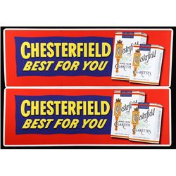 Chesterfield Cigarette Advertising Signs (2)