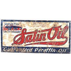 1930's Satin Oil Metal Advertising Sign
