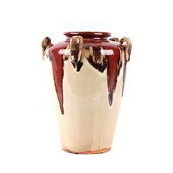 Enameled Ceramic Drip Vase