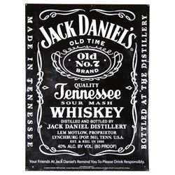 Jack Daniels Old No. 7 Tennessee Whiskey Sign