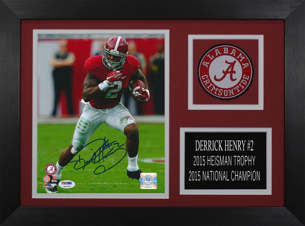buy popular c6374 c27f0 Derrick Henry Signed Alabama Crimson Tide 14x18.5 Custom ...