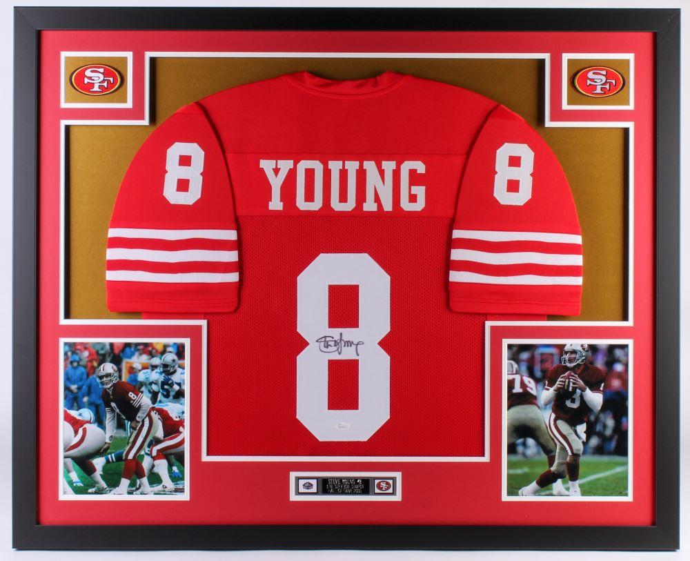big sale 78ed8 694a3 Steve Young Signed San Francisco 49ers 34.5x42.5 Custom ...