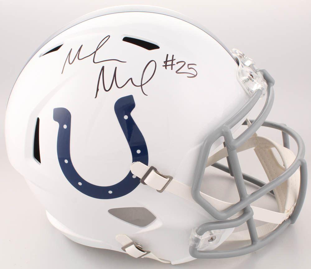 eb2cb907 Marlon Mack Signed Indianapolis Colts Full-Size Speed Helmet ...