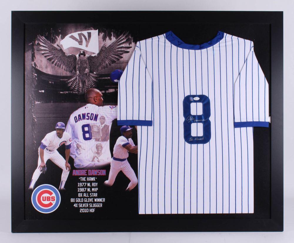 pretty nice 23a63 e787f Andre Dawson Signed Chicago Cubs 35.5x43.5 Custom ...