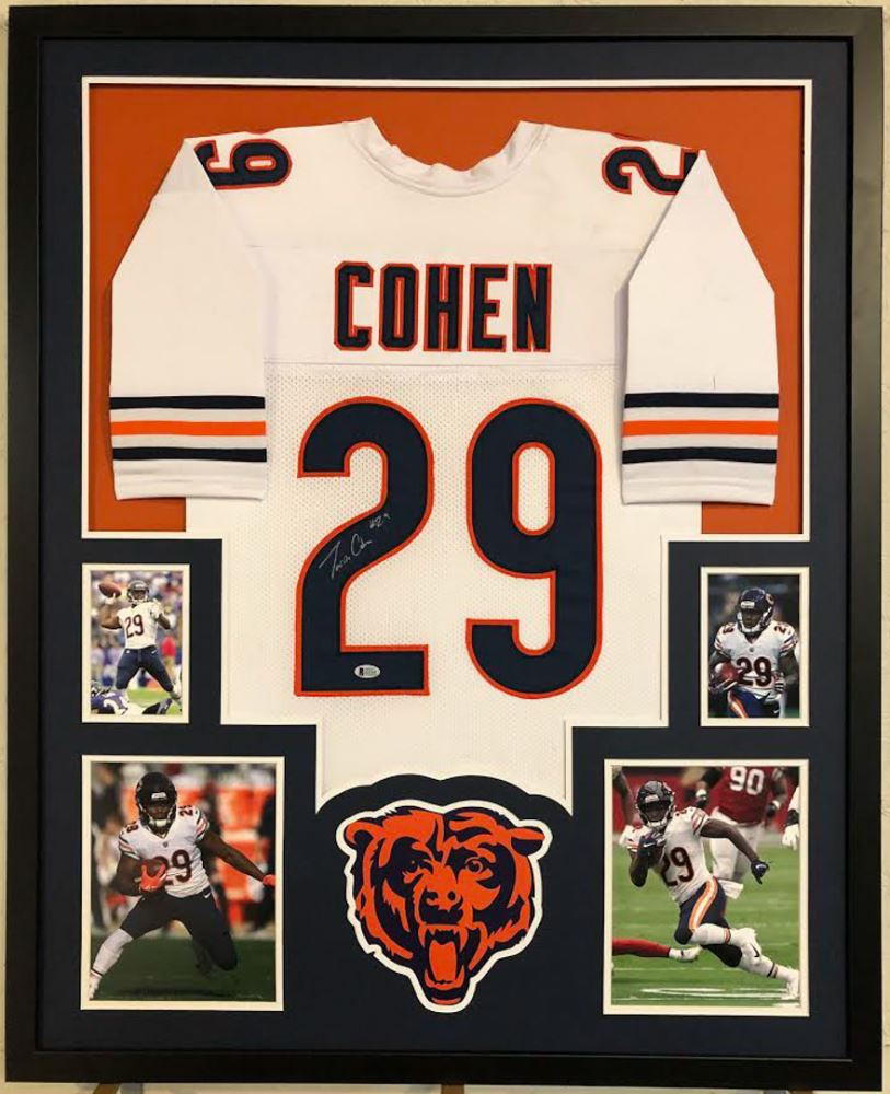 super popular a9eb2 979df Tarik Cohen Signed Chicago Bears 35x43 Custom Framed ...