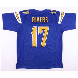 online store 0c703 d0c0d Philip Rivers Signed Los Angeles Chargers Color Rush Jersey